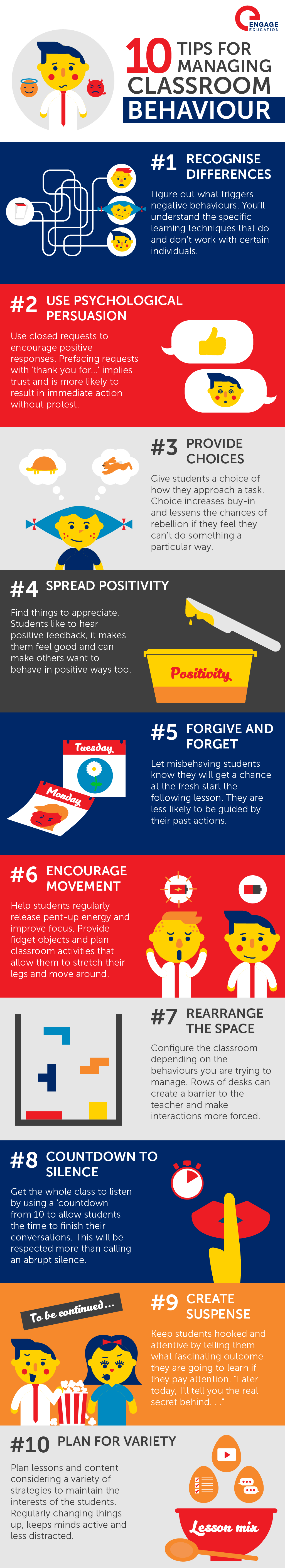 Infographic  Managing  Classroom  Behaviour